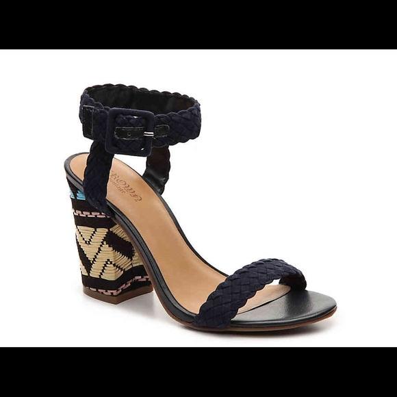7b33605d9d8fbc NWT Crown Vintage Navy Cadence Strappy Heels Sz.8. shoes ...